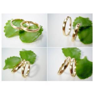 ゴールド結婚指輪(鍛造&彫金)荒仕上げ&荒削り シンプルな甲丸リング|kouki|05
