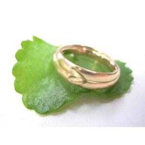 ゴールド結婚指輪(鍛造&彫金)荒仕上げ&荒削り 甲丸リングにハート彫り|kouki|03