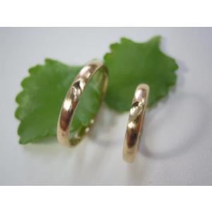ゴールド結婚指輪(鍛造&彫金)荒仕上げ&荒削り 甲丸リングにハート彫り|kouki|04