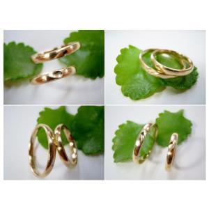 ゴールド結婚指輪(鍛造&彫金)荒仕上げ&荒削り 甲丸リングにハート彫り|kouki|05