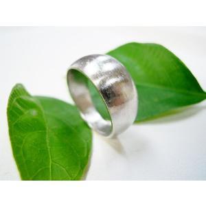 プラチナ 結婚指輪【本物の鍛造】幅広くて太い月形甲丸リング&荒仕上げでインパクト満点で格好いい! kouki 02