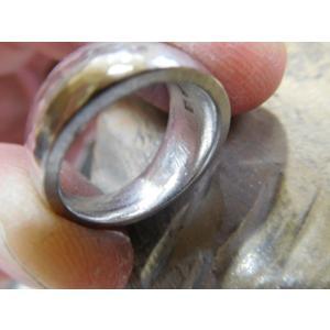 プラチナ 結婚指輪【本物の鍛造】幅広くて太い月形甲丸リング&荒仕上げでインパクト満点で格好いい! kouki 19