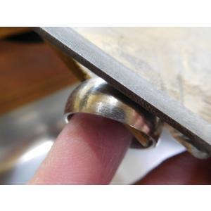 プラチナ 結婚指輪【本物の鍛造】幅広くて太い月形甲丸リング&荒仕上げでインパクト満点で格好いい! kouki 21