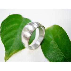 プラチナ 結婚指輪【本物の鍛造】幅広くて太い月形甲丸リング&荒仕上げでインパクト満点で格好いい! kouki 04