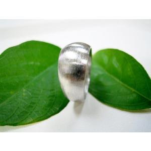 プラチナ 結婚指輪【本物の鍛造】幅広くて太い月形甲丸リング&荒仕上げでインパクト満点で格好いい! kouki 05
