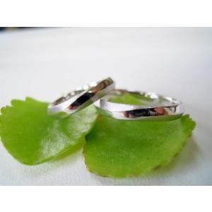 プラチナ結婚指輪(鍛造&彫金)光沢&艶消し メビウスリング&無限大リング|kouki|02