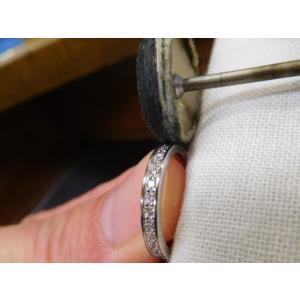 プラチナ結婚指輪(鍛造&彫金)光沢 星が繋がるスターリング|kouki|05