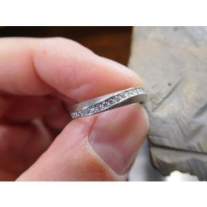 プラチナ 結婚指輪【本物の鍛造】LOVEが繋がるメビウス! 女性は美しいメビウスのエタニティ kouki 21