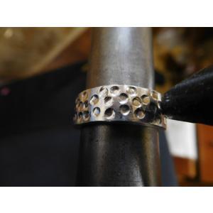 プラチナ 結婚指輪【本物の鍛造】極太の平打ちに艶消しの深い槌目が凄い! 男性7ミリ幅 女性6ミリ幅|kouki|16