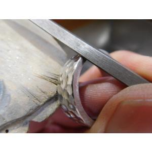 プラチナ 結婚指輪【本物の鍛造】幅広い平打ちに深い光沢の槌目が半端ない! 男性7ミリ幅 女性6ミリ幅|kouki|21