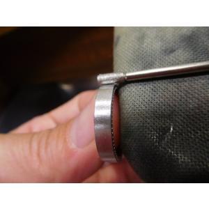 プラチナ結婚指輪(鍛造&彫金)マット&ミル 女性はフルエタニティリング 男性は平打ち|kouki|06