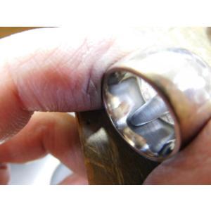 プラチナ 結婚指輪【本物の鍛造】何と10ミリ幅の超極太&重厚感 平甲丸の槌目が半端ない!|kouki|17
