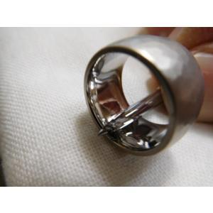 プラチナ 結婚指輪【本物の鍛造】何と10ミリ幅の超極太&重厚感 平甲丸の槌目が半端ない!|kouki|19