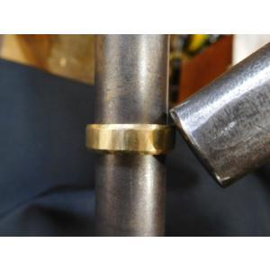 ゴールド結婚指輪(鍛造&彫金)鎚起の叩き出し 幅広甲丸リング 男性6.5mm 女性4.5mm|kouki|15