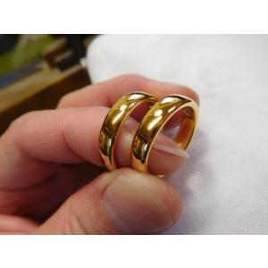 純金 結婚指輪【本物の鍛造】ツルツルに滑らかで着け心地の良さ抜群!シンプルな平甲丸 kouki