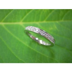 鍛造・手作りエタニティリング ダイヤモンド20ピース 一文字 極細|kouki