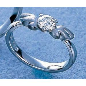 鍛造・手作りエンゲージリング 婚約指輪 0.3ctダイヤモンド プラチナ 天使の羽&翼|kouki