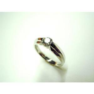 鍛造・手作りエンゲージリング 婚約指輪 0.3ctダイヤモンド プラチナ シンプル&スタイリッシュ|kouki