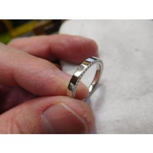 ドラマ「知らなくていいコト」に使われた指輪(1本販売)側面にミル打ち&ダイヤ入り|kouki|02