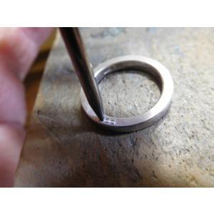 ドラマ「知らなくていいコト」に使われた指輪(1本販売)側面にミル打ち&ダイヤ入り|kouki|13