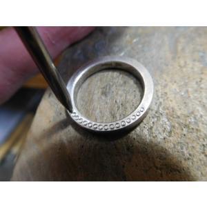 ドラマ「知らなくていいコト」に使われた指輪(1本販売)側面にミル打ち&ダイヤ入り|kouki|14