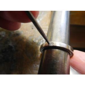 ドラマ「知らなくていいコト」に使われた指輪(1本販売)側面にミル打ち&ダイヤ入り|kouki|18