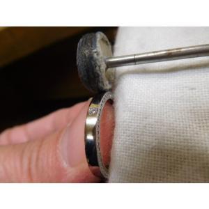 ドラマ「知らなくていいコト」に使われた指輪(1本販売)側面にミル打ち&ダイヤ入り|kouki|21