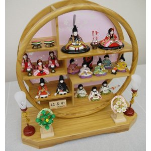 【大里彩作】 木目込み人形 はるか 円型十五人...の詳細画像1