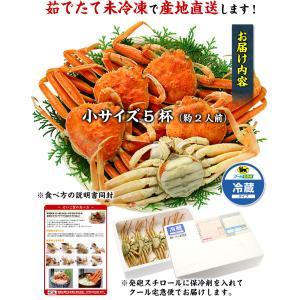 茹でたて未冷凍の越前松葉せいこ蟹 (お試し小サイズ5ハイ/約2人前)※2017年の販売終了しました。|kouragumi|02