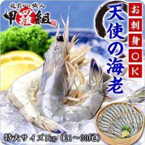 エビ えび 天使の海老 1kg 21〜30尾入 送料無料 天使のえび  天使のエビ|kouragumi