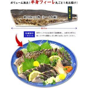 炙った皮の風味が絶品!日本海の高級魚サワラたたき半身フィーレ約350g(3〜4人前)【さわら】【サワラ】【鰆】|kouragumi|03