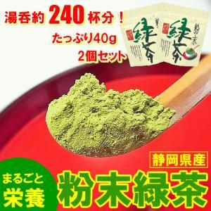 DM便対応 静岡産 粉末緑茶 栄養まるごと 食べるお茶 40g×2P∬1004§