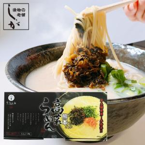 熊本 ラーメン 高菜 (2種) 付き 4食入 レターパック送料無料 kousa-youmanzyou