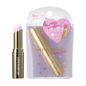 ラブパスポート LOVE PASSPORT パフュームスティック シュガリーピンク シュガリーアップルの香り 3.5g 【スティック型練り香水】【あすつく】|kousuiandco