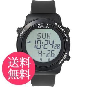 グルス 腕時計 認知症予防 歩幅計測 ウォーキングウォッチ ブラック  送料無料|kousuiclub