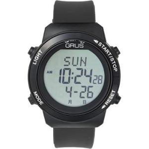 グルス 腕時計 認知症予防 歩幅計測 ウォーキングウォッチ ブラック  送料無料|kousuiclub|02