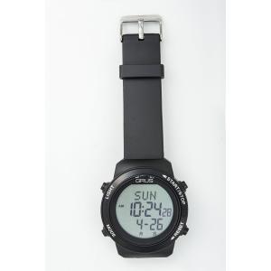 グルス 腕時計 認知症予防 歩幅計測 ウォーキングウォッチ ブラック  送料無料|kousuiclub|03