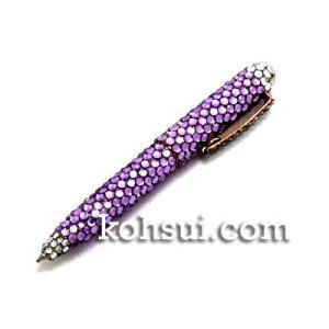 キラキラボールペン パープル・クリア|kousuiclub