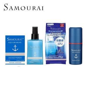 サムライ samourai アクアマリン 香水+ボディシート+デオドラントスティック+フレグランスミスト|kousuiclub