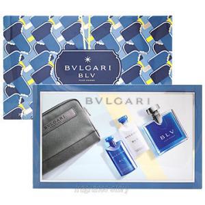 ブルガリ BVLGARI ブルー プールオム 3Pキット EDT100ml+ASB75ml+SG75ml ポーチ付き ギフトセット fs 【香水 メンズ】【あすつく】|kousuimonogatari-ys