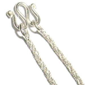 イタリアンデザインの ツイストネックレス 41cm シルバー925|kousuinet