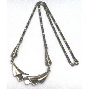 アンティーク風ネックレス (マーカサイト付き) シルバー925 |kousuinet
