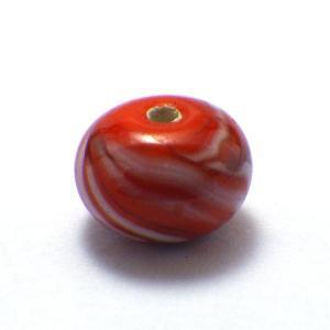 トンボ玉パーツ(ミカン型) とんぼ玉 手芸 手作り 材料 ビーズ パーツ|kouyuu