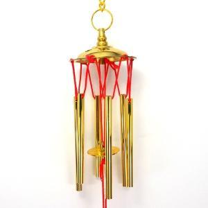 風水 六管 風鈴 六柱六帝古銭 銅製 ウィンドベル ウィンドチャイム|kouyuu
