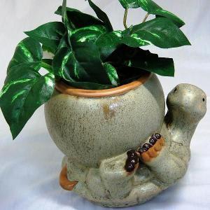 亀鉢置き 工芸品 焼き物 陶器 植木鉢カバー ガーデニング|kouyuu