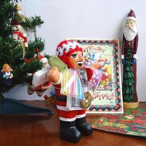エケコ人形 エケッコ人形 サンタ 風水古銭付 ペルー産 エケッコ人形 仰天ニュース 幸せを呼ぶ 置物 飾り物 癒し 金運|kouyuu