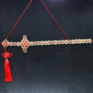 風水古銭剣(特大)銅製 風水 開運 グッズ インテリア 置物|kouyuu