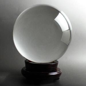風水 人工(溶錬)水晶玉 人工水晶球 200mm 風水 開運 グッズ インテリア 宙玉 セール|kouyuu