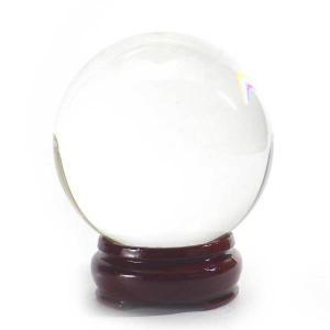 風水 人工(溶錬)水晶玉 人工水晶球 80mm 風水 開運 グッズ インテリア 置物 宙玉|kouyuu