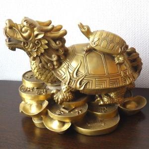龍亀 ロングイ(特大)銅製 風水 開運 グッズ インテリア 置物 金運 財運|kouyuu